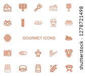 editable 22 gourmet icons for... | Shutterstock .eps vector #1278721498
