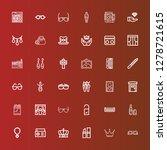 editable 36 elegance icons for... | Shutterstock .eps vector #1278721615