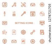 editable 22 setting icons for... | Shutterstock .eps vector #1278721705