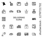 editable 22 delivering icons... | Shutterstock .eps vector #1278721732