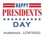 happy presidents day lettering... | Shutterstock .eps vector #1278724522