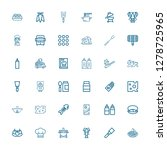 editable 36 gourmet icons for... | Shutterstock .eps vector #1278725965