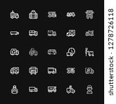 editable 25 lorry icons for web ...   Shutterstock .eps vector #1278726118