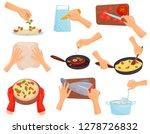 hands preparing food  process... | Shutterstock .eps vector #1278726832
