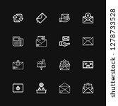 editable 16 newsletter icons... | Shutterstock .eps vector #1278733528