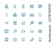 editable 25 study icons for web ... | Shutterstock .eps vector #1278733555