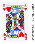 King Of Hearts Isolated On...