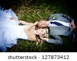 beautiful wedding couple is... | Shutterstock . vector #127873412