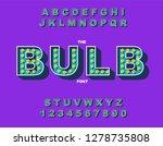 retro light bulb bright... | Shutterstock .eps vector #1278735808