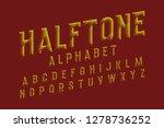 halftone alphabet. yellow dots... | Shutterstock .eps vector #1278736252