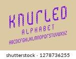 knurled alphabet. purple... | Shutterstock .eps vector #1278736255