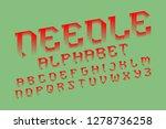needle alphabet. red... | Shutterstock .eps vector #1278736258