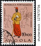 angola   circa 1957  a stamp... | Shutterstock . vector #127873736