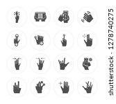 16 tap  tablet  pinch  salute ... | Shutterstock .eps vector #1278740275