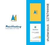 cone cap creative logo and...   Shutterstock .eps vector #1278744448