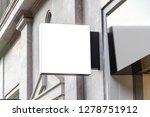 store brand sign mockup in... | Shutterstock . vector #1278751912