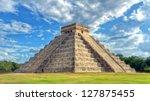 mayan pyramid of kukulcan el... | Shutterstock . vector #127875455