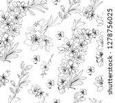 flower background. outline... | Shutterstock .eps vector #1278756025