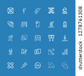 editable 25 help icons for web... | Shutterstock .eps vector #1278761308