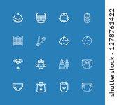 editable 16 diaper icons for... | Shutterstock .eps vector #1278761422