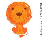 cute african animal. lion.... | Shutterstock .eps vector #1278764248
