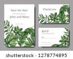 vector green leaf plant...   Shutterstock .eps vector #1278774895