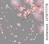 vector background with spring... | Shutterstock .eps vector #1278777778