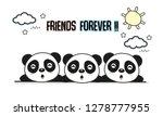 friends forever greeting card... | Shutterstock .eps vector #1278777955