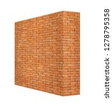 perspective isolated wall of... | Shutterstock . vector #1278795358