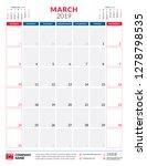 march 2019. calendar planner... | Shutterstock .eps vector #1278798535