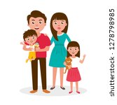 big happy family portrait. set... | Shutterstock .eps vector #1278798985