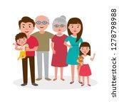 big happy family portrait. set... | Shutterstock .eps vector #1278798988