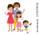 big happy family portrait. set... | Shutterstock .eps vector #1278799018