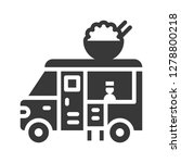 asian food truck icon with chef ... | Shutterstock .eps vector #1278800218
