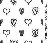 vector hand drawn hearts...   Shutterstock .eps vector #1278802762
