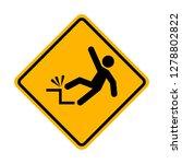 falling hazard warning sign   Shutterstock .eps vector #1278802822