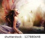 fashion art beauty portrait.... | Shutterstock . vector #127880648