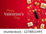 valentines day banner or... | Shutterstock .eps vector #1278811495