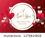 happy valentines day greeting... | Shutterstock .eps vector #1278814828