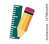 pencil with ruler icon school... | Shutterstock .eps vector #1278816442
