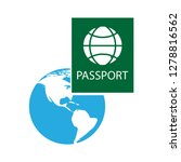 travel passport icon flight... | Shutterstock .eps vector #1278816562