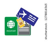 passport and ticket icon flight ...   Shutterstock .eps vector #1278816565