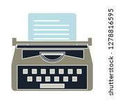 typewriter machine icon ... | Shutterstock .eps vector #1278816595