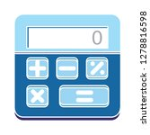 vector calculator icon math... | Shutterstock .eps vector #1278816598