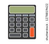 vector calculator icon math... | Shutterstock .eps vector #1278819622