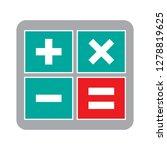 vector calculator icon math... | Shutterstock .eps vector #1278819625