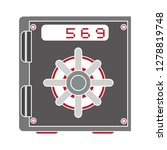 bank safe icon  lock symbol ... | Shutterstock .eps vector #1278819748