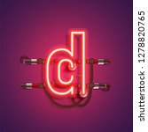 realistic neon character with... | Shutterstock .eps vector #1278820765