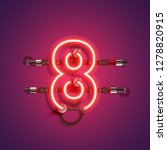 realistic neon character with... | Shutterstock .eps vector #1278820915