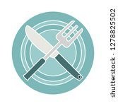restaurant flat icon  fork... | Shutterstock .eps vector #1278825502